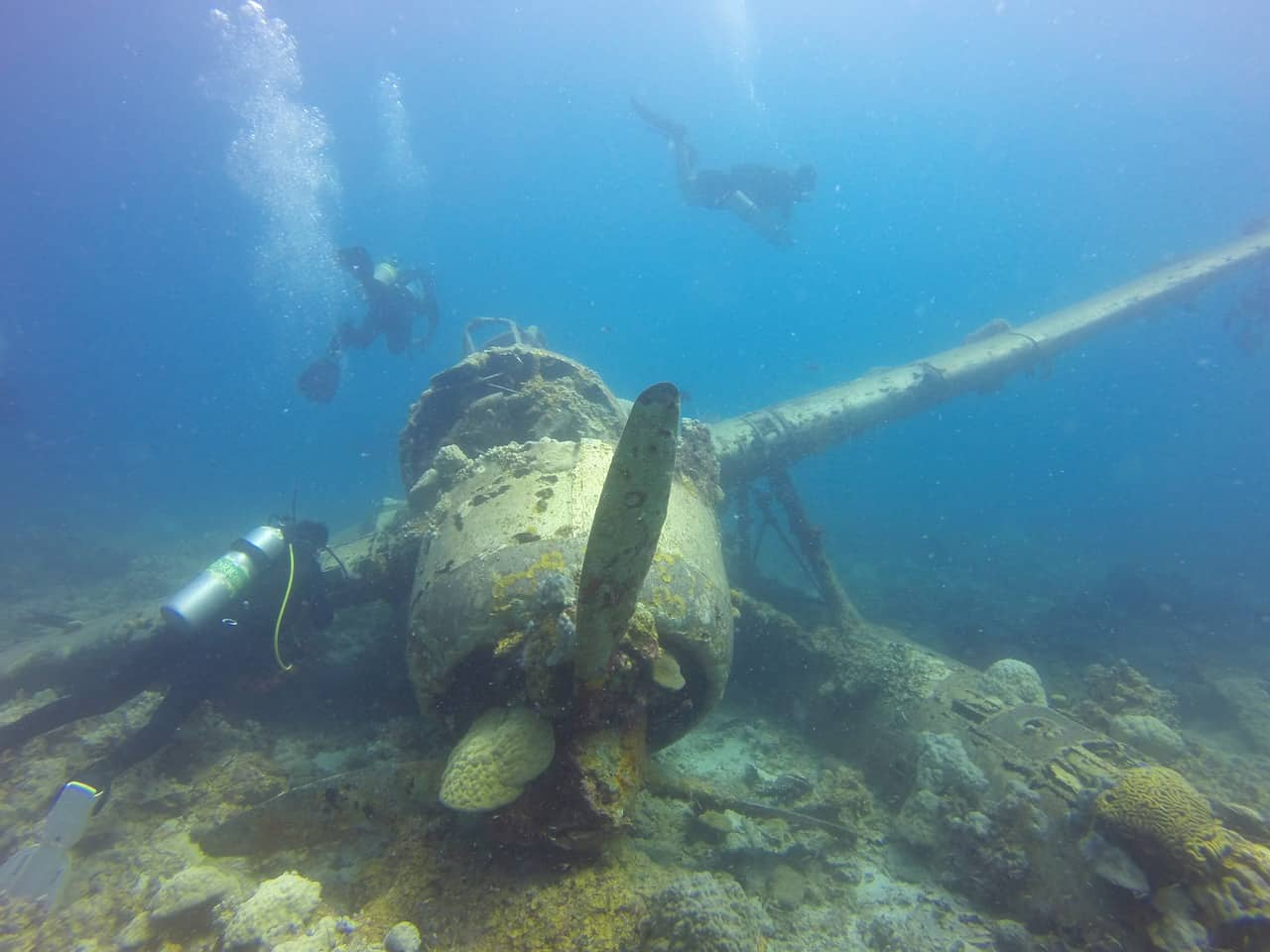 Photo of a underwater wreckage