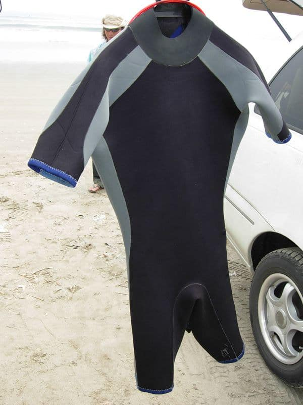 a shorty wetsuit